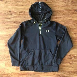 Men's Under Armour black half zip sweater